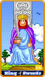 King of Swords: 8-Bit Tarot Tarot Deck