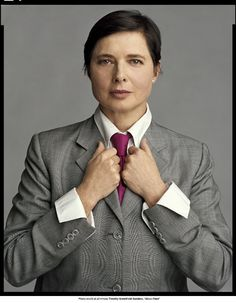 Isabella Rossellini in About Face: Supermodels Then and Now by Timothy Greenfield-Sanders