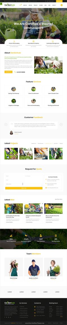 Garden HUB is clean and modern design 4in1 responsive bootstrap HTML5 template for gardens, landscape and lawn services website to live preview & download click on Visit  #gardendesign #gardendecor #webdeveloper