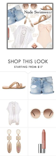 """BE Naked!!!"" by jckallan ❤ liked on Polyvore featuring Armani Jeans, Chloé, Clinique and nudeswimwear"