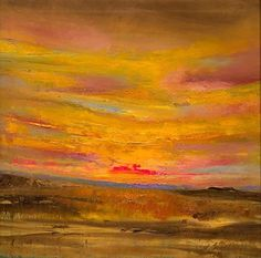 """New Mexico Sunset by Lindy Wiese Oil ~ 24"""" x 24"""""""