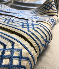 Troynorth Borders collection - beautiful embroidered wide braids with various designs including Greek key, adding exquisite detail to leading edges of curtains, pelmets, cushions and also as borders around door frames. Available in many colours to complement an assortment of fabrics.