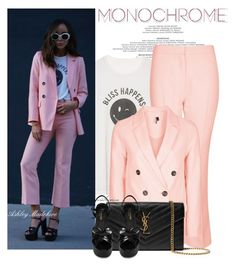 """""""Millenial Pink"""" by arethaman ❤ liked on Polyvore featuring Bliss and Mischief, Topshop and Yves Saint Laurent"""