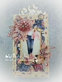 Vintage Shabby Chic, Vintage Paper, Birthday Cards, Labels, Paper Crafts, Girls, Boys, Denim, Frame