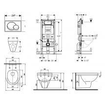 Geberit DUOFIX - SET pro závěsné WC + klozet Kolo Primo a sedátko 111.300.00.5 NP1