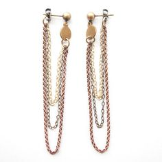 Disk Earrings Brass, $26, now featured on Fab.