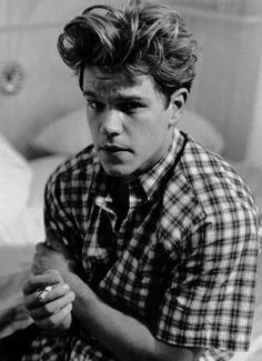 matt damon omg his hair <3