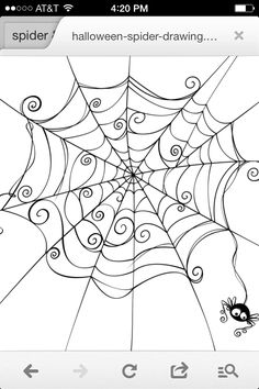 Embroidery Patterns Spooky spider web Royalty Free Stock Vector Art Illustration - Isolated spider web in a fun way. Photo Halloween, Halloween Pictures, Halloween Crafts, Easy Halloween Drawings, Halloween Punch, Spider Web Drawing, Embroidery Designs, Embroidery Tattoo, Embroidery Thread