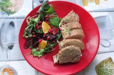 Greckie smaki: Polędwiczki pieczone w piecu z surówką