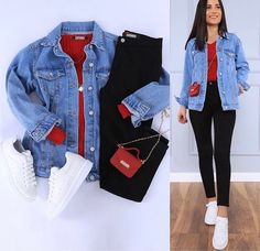 Girls Fashion Clothes, Winter Fashion Outfits, Cute Casual Outfits, Stylish Outfits, Teenager Outfits, Everyday Outfits, Jeans, Clothing, Dresses