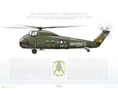 "UH-34D Choctaw, Marine Medium Helicopter Squadron One Six Three (HMM-163) ""Ridge Runners"", 148768, ""Yankee Papa 13"" Squadron"