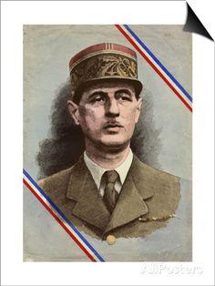 de Gaulle, Charles Affiche par L. Serre sur AllPosters.fr