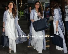 Kareena Kapoor (In Anita Dongre) Photographed At The Airport-1