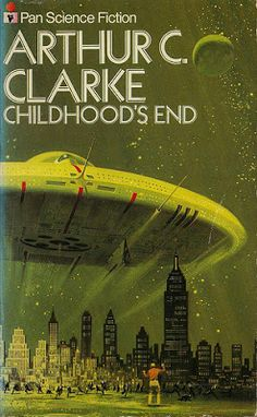 Arthur C Clarke  - Childhood's End.  Fascinating first-contact novel, with a wickedly subversive religious twist.