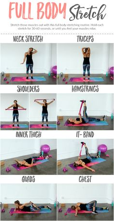 Stretch and lengthen tired muscles with this full body stretch routine