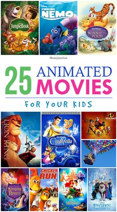 25 Top & Best Animat 25 Top & Best Animation Movies For Kids To Watch : Were sure even you must have collected a few animated movie DVDs for kids. And if you havent well help you select some. So heres a list of 25 top animated movies for kids. Cartoon Movie List, Best Cartoon Movies, Best Kid Movies, Good Movies To Watch, Family Movies, Disney Movies, Funny Movies For Kids, Funny Videos For Kids, Top Animated Movies