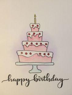66 Ideas Birthday Card Diy Drawing Paper Crafts For 2019 - - 66 Ideas Birthday Card Diy Drawing Paper Crafts For 2019 Ideas/Cards/Fonts/Stuff… Cute Birthday Cards, Birthday Cards For Friends, Bday Cards, Handmade Birthday Cards, Birthday Greeting Cards, Birthday Greetings, Greeting Cards Handmade, Ideas For Birthday Cards, Birthday Crafts