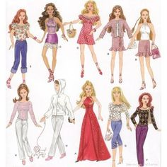 Free Printable Doll Clothes Patterns | Barbie Doll Clothes Wardrobe SEWING PATTERN Dress Gown on eBay (end ti ...