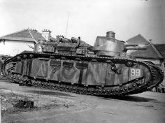 In 1921, France possessed the very first and only operational super-heavy tanks in the world. The Champagne FCM 2C , one shown here camouflaged in German hands.