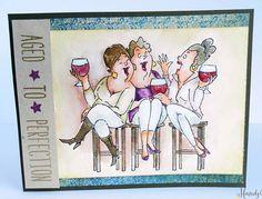 Art Impressions: Ai Girlfriends: Wine Tasters Set (Sku#4383) handmade friendship card.