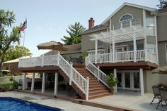 2 story pergola deck pictures | April | 2012 | St. Louis Decks, Screened Porches, Pergolas, Gazebos ...
