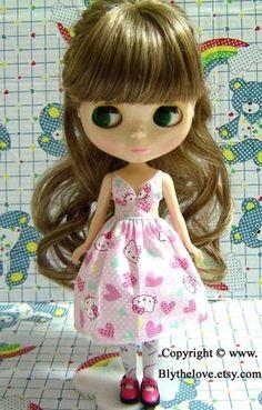 Handmade Blythe clothes for Blythe Momoko Pullip 12 inch doll - Hello Kitty   eBay
