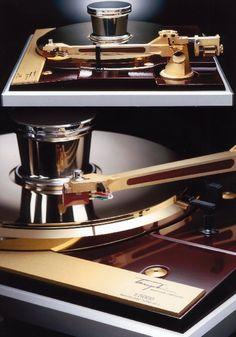 LP record player.