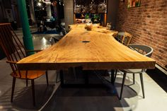5 meters long oak monolith table. Conference Table is ideal solution for your office, restaurant, hotel and even at your home. It creates an opportunity for the whole team to gather in one place at the time. Its con-struction and size allows to gather spite of people in a comfortable way and to provide them enough free space to work. Free Space, Conference Table, Opportunity, Dining Table, Restaurant, Furniture, Design, Home Decor, Twist Restaurant