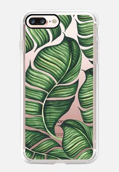 Casetify iPhone 7 Case - Banana leaves with pink background by Dorina Nemeskéri Iphone 8 Plus, Case Iphone 6s, Iphone 4, Iphone 7 Covers, Phone Cover, Apple Watch Iphone, 6s Plus, Banana Leaves, Casetify