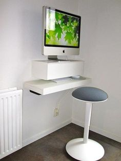 Create a Small Floating iMac Workspace With Ikea Shelves
