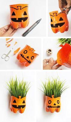 Tutorial 2/2 Maceta Halloween / HangPlant Halloween Pumpkin by Ninomaru
