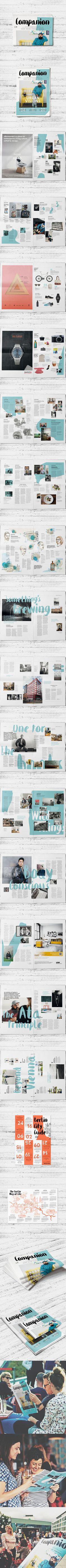 Companion Magazine #02 by Stefan Schuster, via Behance