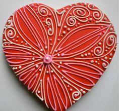 Valentine heart cookies | by My Cookie Affair