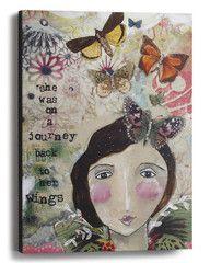 "Kelly Rae Roberts 12""x16"" Wall Art-On a Journey"