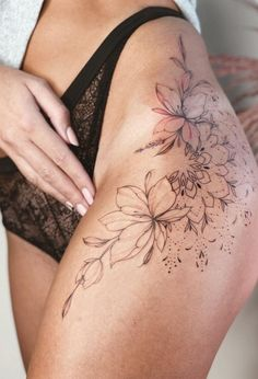 a list with 50 of the most beautiful mandala tattoo designs we've seen and the symbolism behind this sacred & timeless pattern. #thightattoos #tattooideas #tattoo Dope Tattoos For Women, Leg Tattoos Women, Tiny Tattoos For Girls, Women Shoulder Tattoos, Girl Tribal Tattoos, Back Tattoo Women, Tattoo Girls, Hip Thigh Tattoos, Floral Thigh Tattoos