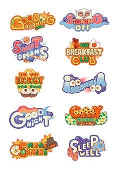 Cristian Robles on Behance Graphic Design Posters, Graphic Design Inspiration, Typography Design, Cute Typography, Graphic Tees, Typographie Logo, Posca Art, Game Logo Design, 2 Logo