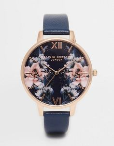 Olivia Burton | Olivia Burton Exclusive Floral Big Dial Watch