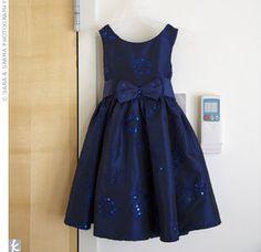 #navy Blue Flower Girl Dress