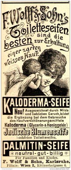 Original-Werbung/ Anzeige 1897 - SEIFEN / WOLFF & SOHN - KARLSRUHE - ca. 45…