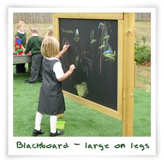 Black board, large, on legs
