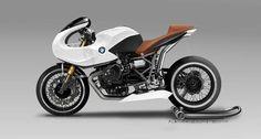 BMW Concept by Nicolas Petit Motorcycle Crèation - Asphalt & Rubber Concept Motorcycles, Bmw Motorcycles, Custom Motorcycles, Custom Bikes, Bmw Cafe Racer, Modern Cafe Racer, Cafe Racers, Bmw Boxer, Bmw Hp2