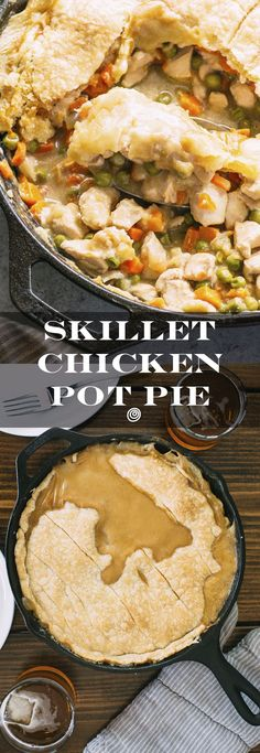 This SIMPLE, EASY, comforting, homemade chicken pot pie recipe is perfect for weeknight meals. With a store bought pie crust like pillsbury, this meal featuring frozen carrots, peas, chicken breast, milk, and a few other ingredients comes together in under and hour. Welcome fall with this cozy dinner!