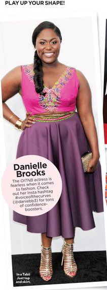 """DANIELLE BROOKS from the NETFLIX show """"ORANGE IS THE NEW BLACK"""" featured in PEOPLE STYLE WATCH in custom TabiiJust"""