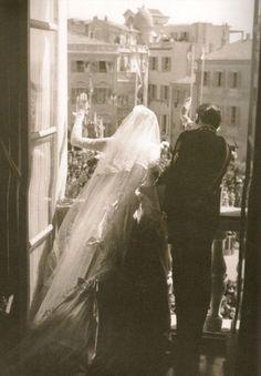 Grace Kelly y Rainiero de Mónaco.   Mónaco. 1956.