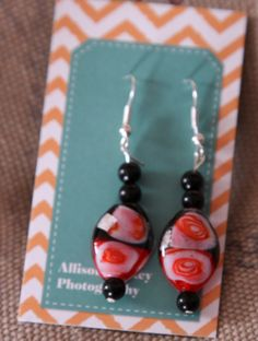Jeweled/Gem Dangle Earrings by AHPhotographyDesign on Etsy, $6.50