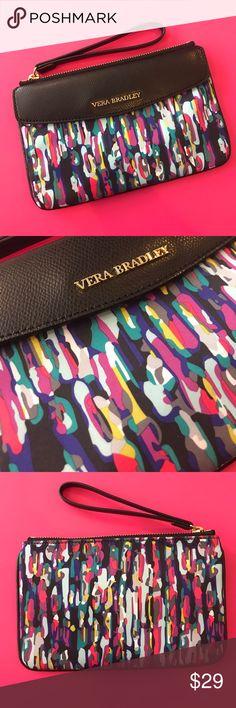Vera Bradley Wristlet Watercolor Brushstrokes NWOT Vera Bradley Envelope Wristlet in Watercolor Brushstrokes Vera Bradley Bags Clutches & Wristlets