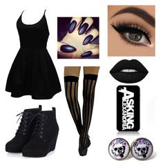 Untitled #30 by atomicriley on Polyvore featuring polyvore, WithChic, Lime Crime, fashion, style and clothing