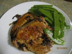Grilled pork chops with...