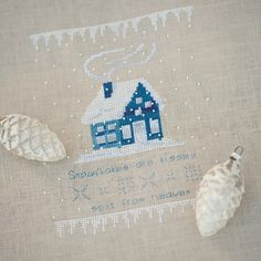 """Stickfee Design - """"Winter"""" - snowflakes are kisses! Look into this pattern..."""
