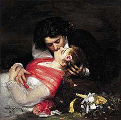 Carolus Duran, The Kiss, 1868, Oil on canvas, Palias des Beaux- Arts, Lille, France